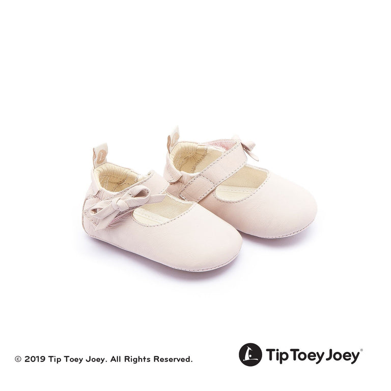 Cotton Candy Pink Leather Baby Shoes