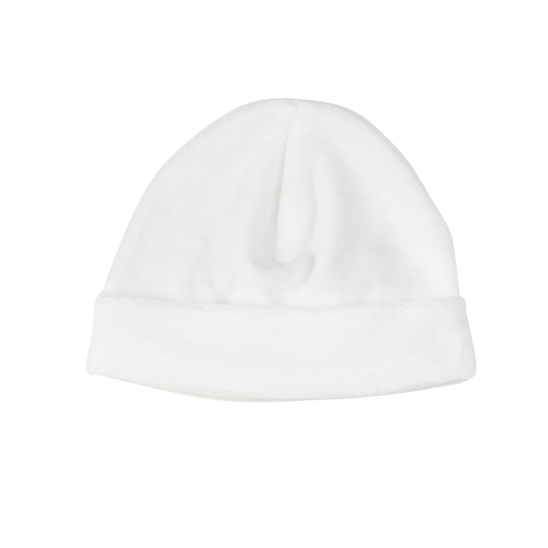 White Basic Velour Hat