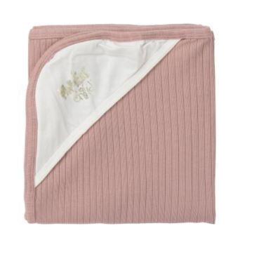 Dusty Pink Ribbed Blanket