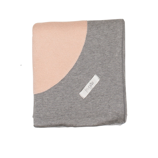 Grey With Pink Terry Circle Blanket
