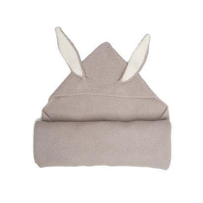 Light Grey Knit Bunny Blanket
