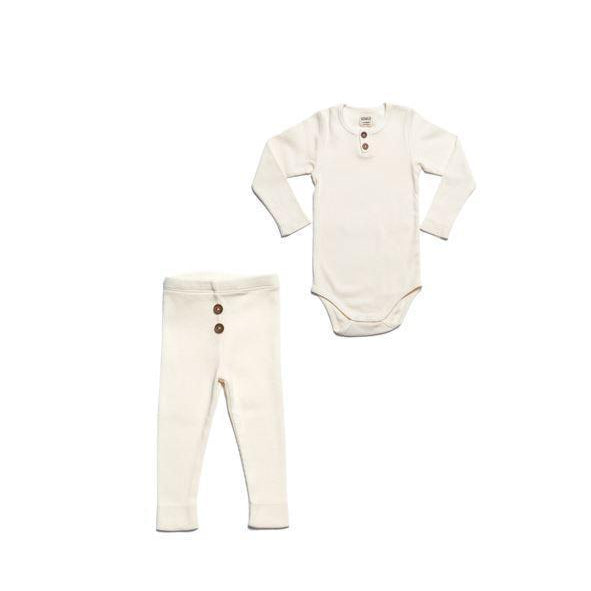Vanilla Organic Ribbed Vintage 2 Piece Set