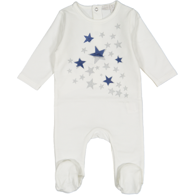 White Star Print Footie