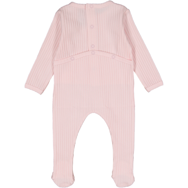 Light Pink Ribbed Footie