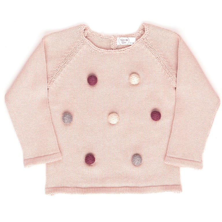 Dusty Rose Pom Pom Knit 2 Piece Set
