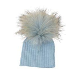Denim Blue Ribbed Hat