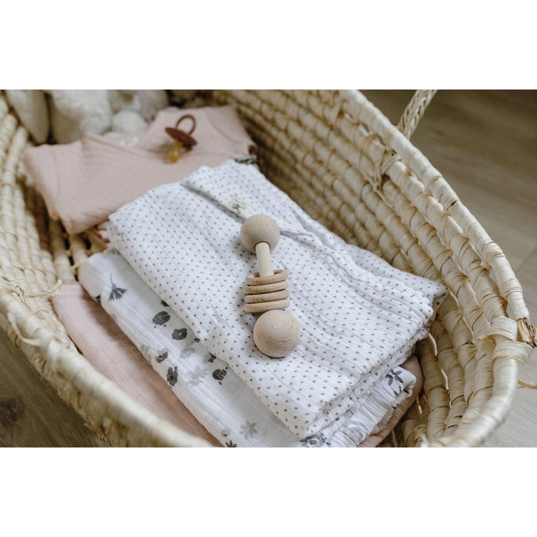 Grey Pin Dot Swaddle