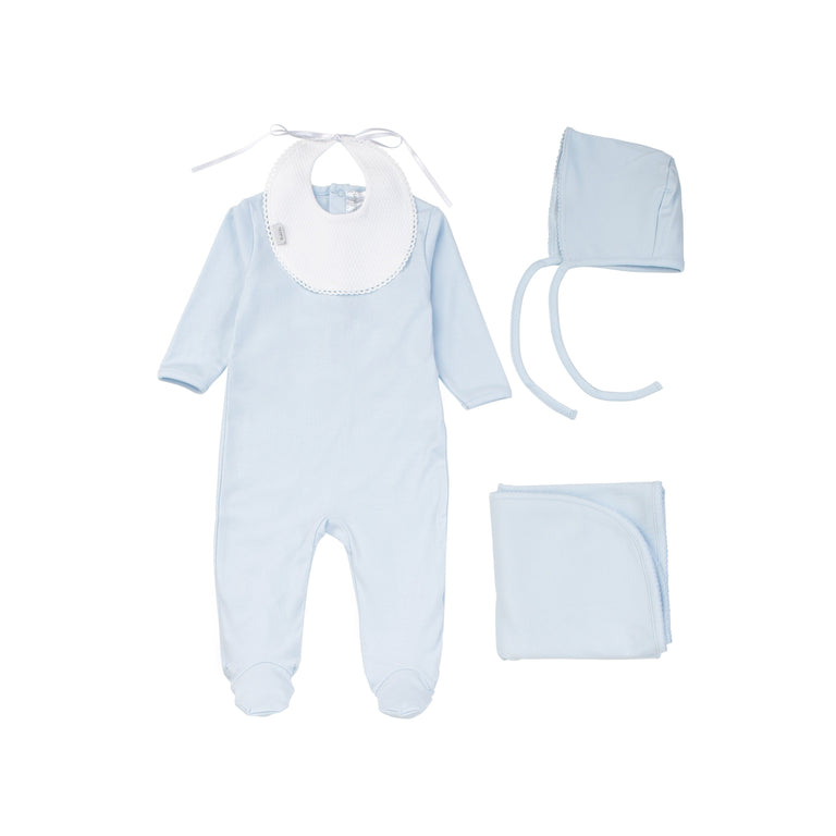 Light Blue Cotton Footie