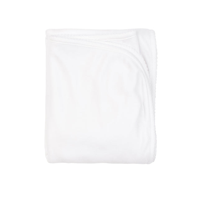White  Basic Velour Blanket