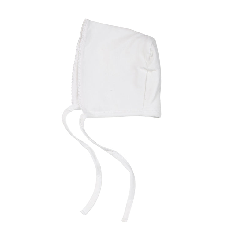 White Basic Cotton Bonnet