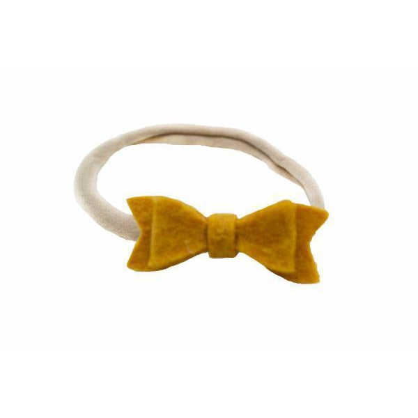Mustard Bow Nylon Headband