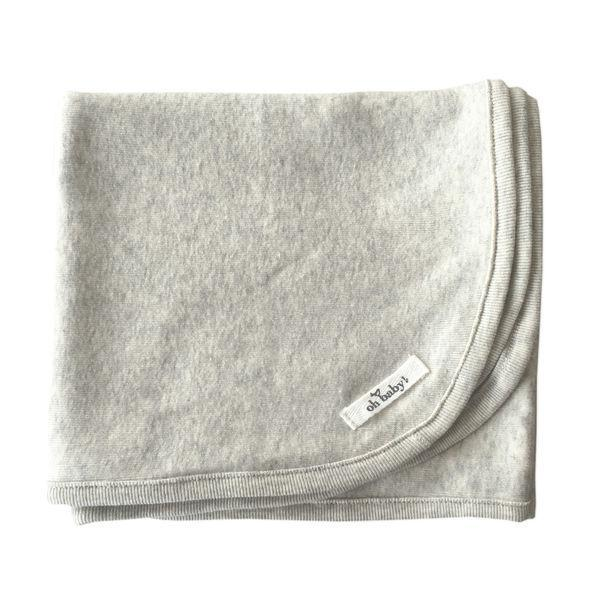 Oatmeal Heather Layette Blanket