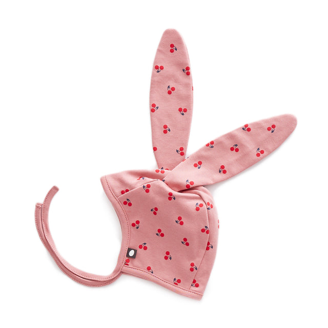 Dark Pink Cherries Bunny Bonnet