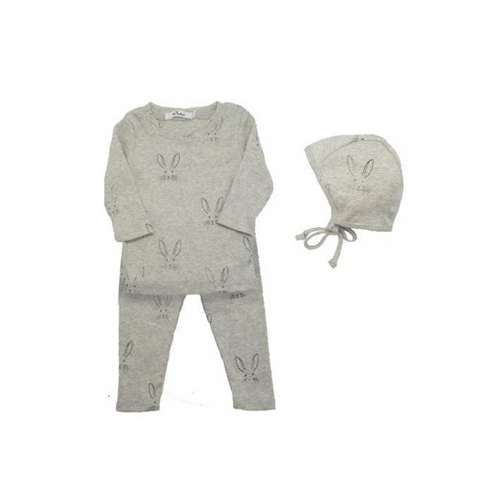 Oatmeal Heather Bunny 2 Piece Set