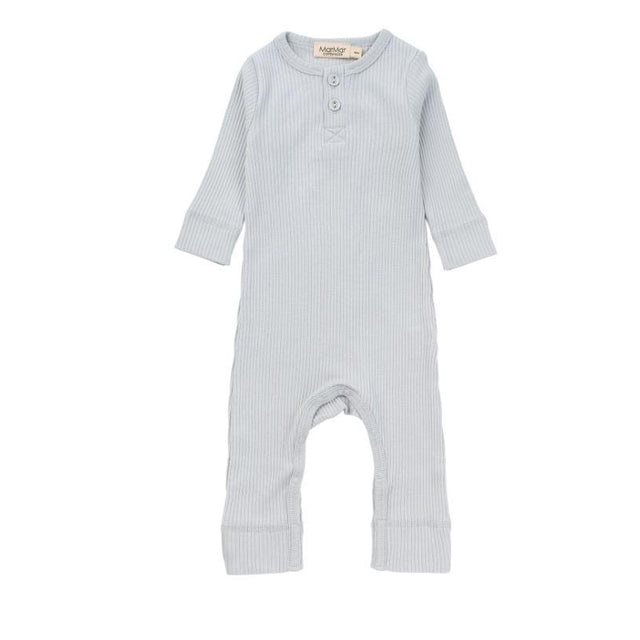 Pale Blue Modal Ribbed Coverall