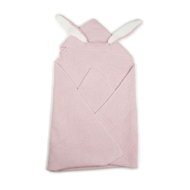 Light Pink Knit Bunny Blanket