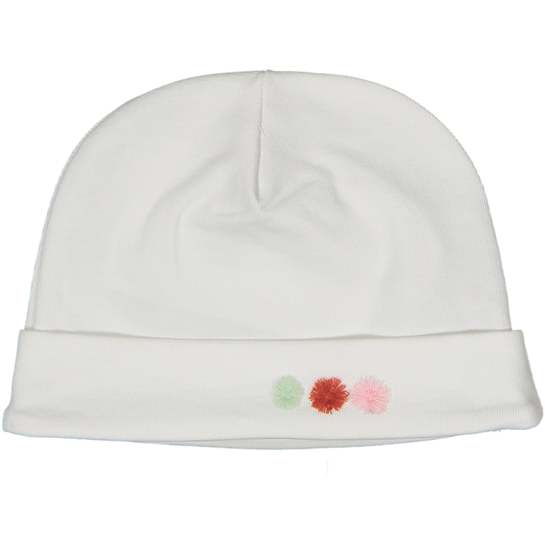 White Flowers Cotton Hat