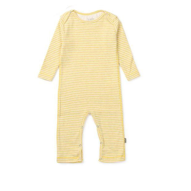 Yellow Striped Roman Organic Footie