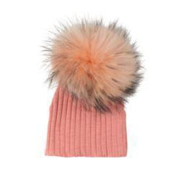 Salmon Ribbed Hat