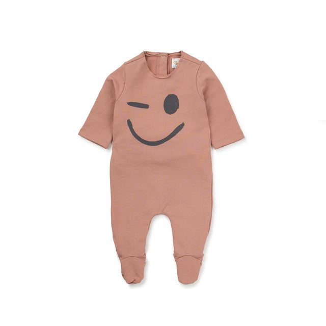 Rose Winkle Smile Cotton Footie