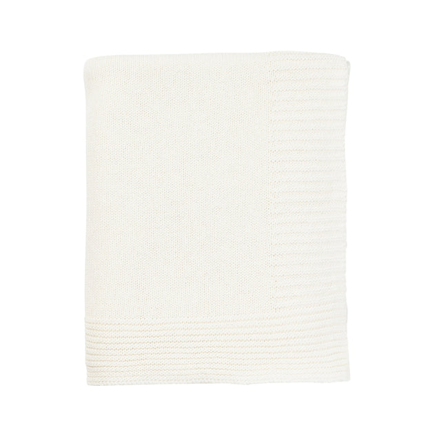 Cream TC Branded Cotton Cashmere Blanket