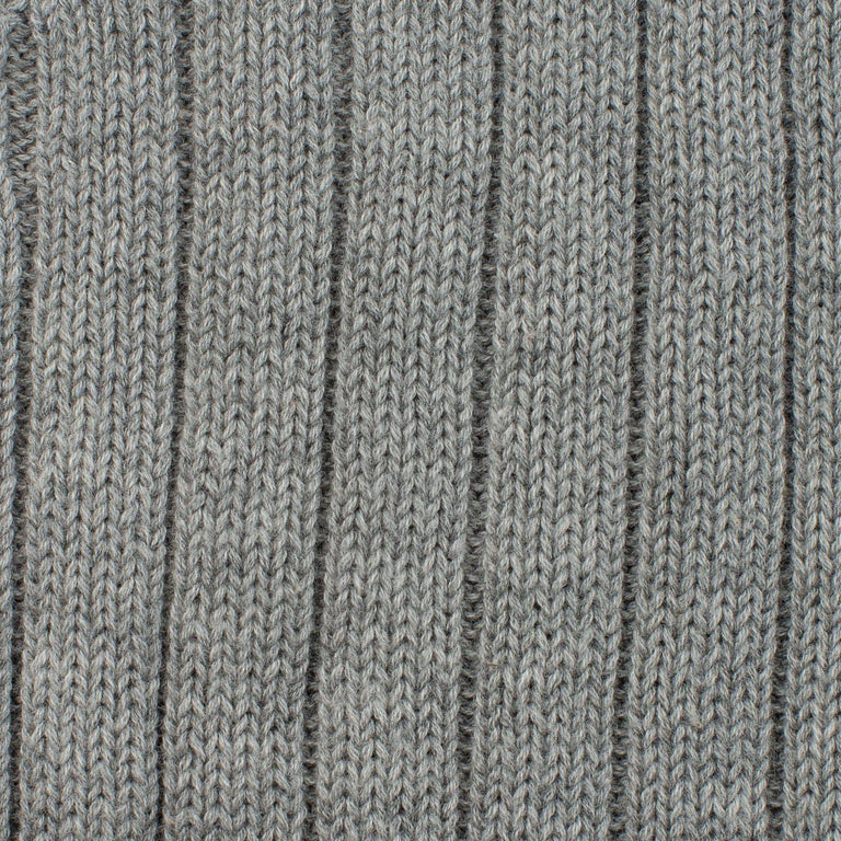 Grey Knot Knit Hat