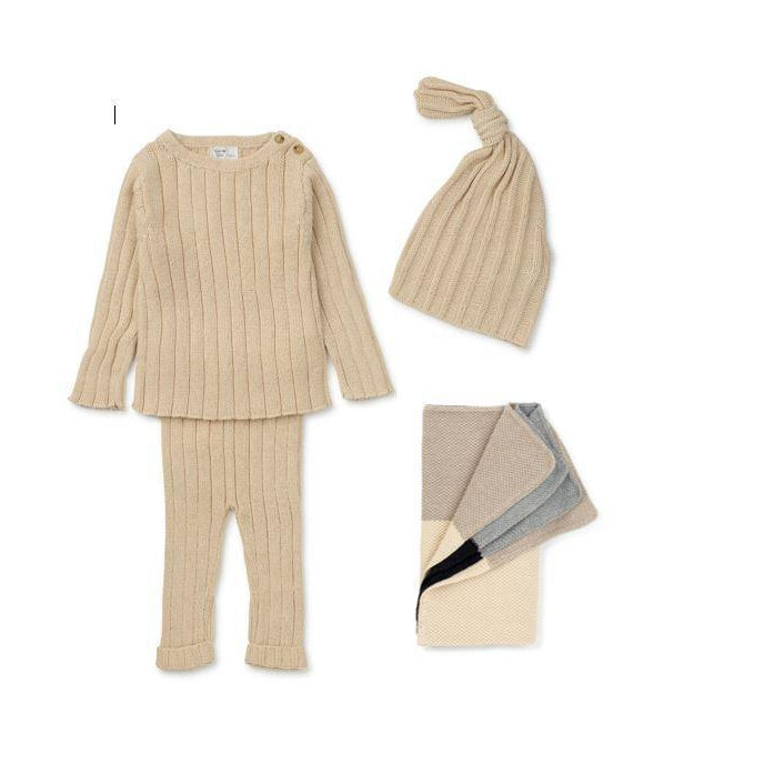 Natural Ribbed Knit 2 Piece Set