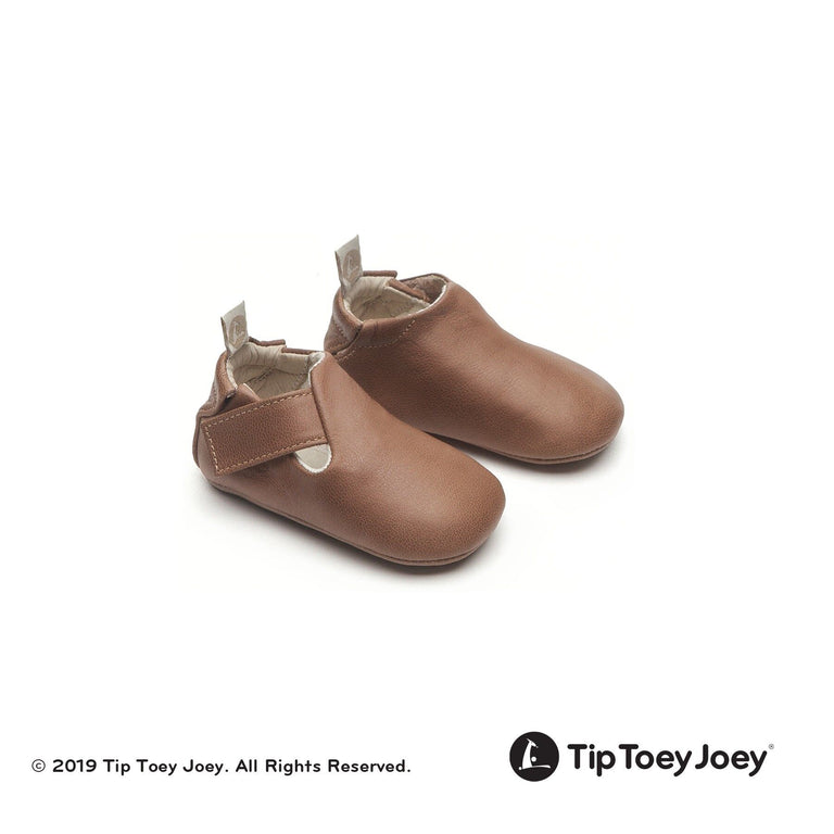 Whisky/Whisky Beige Leather Baby Shoes