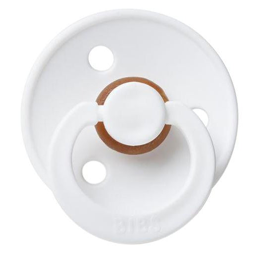 White Natural Rubber Pacifier