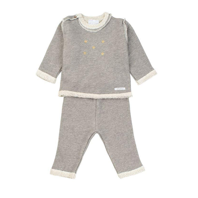 Grey Seamed 2 Piece Set