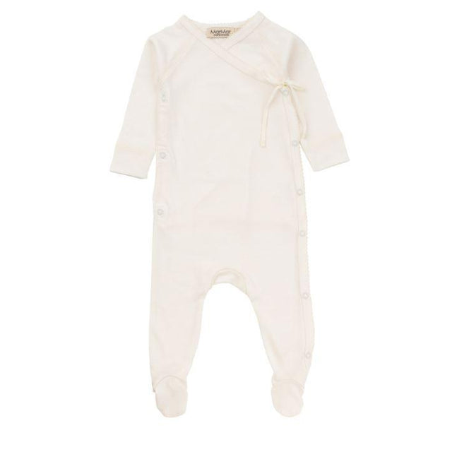 Gentle White Rubetta Modal Wrap Footie