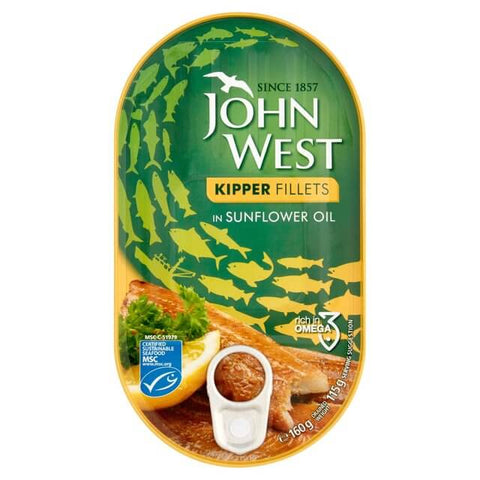 John West Kipper Fillets - in Sunflower Oil 160g
