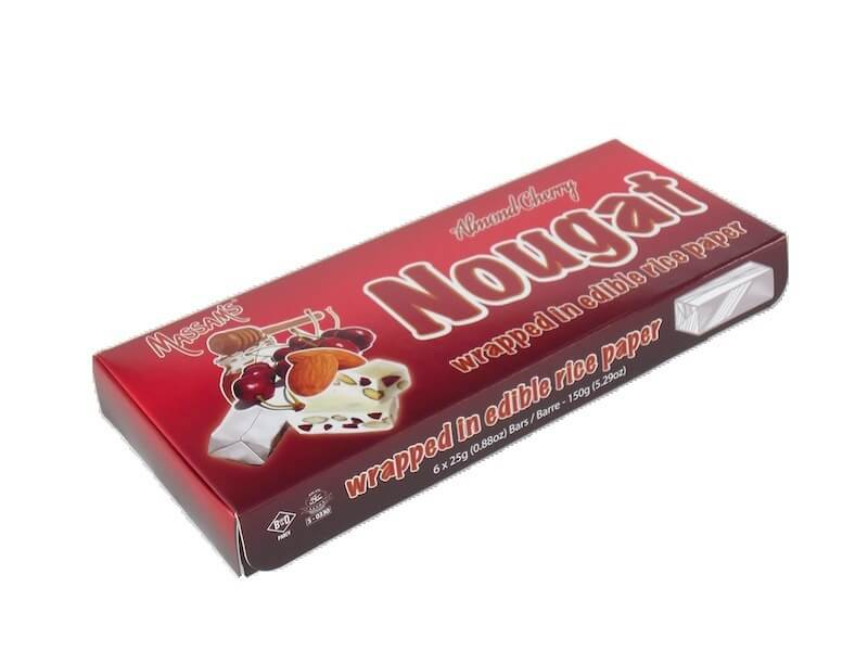 Massams Nougat - Almond Cherry Box (Pack of 6 Bars) (Kosher) 150g