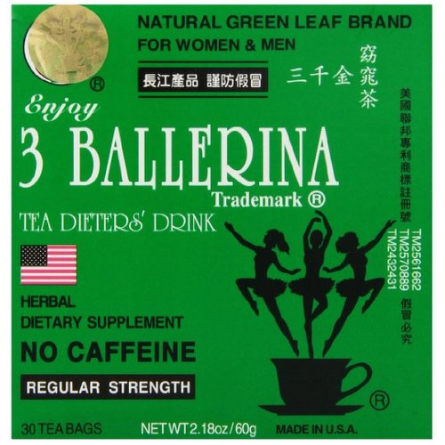 Truong 3 Ballerina Dieters Tea Regular Strength (30 Tea Bags) 60g