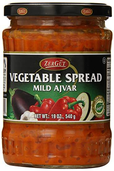 Zergut Ajvar Mild Vegetable Spread 540g