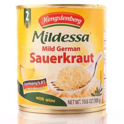 Hengstenberg Mildessa Mild German Sauerkraut With Wine 300g