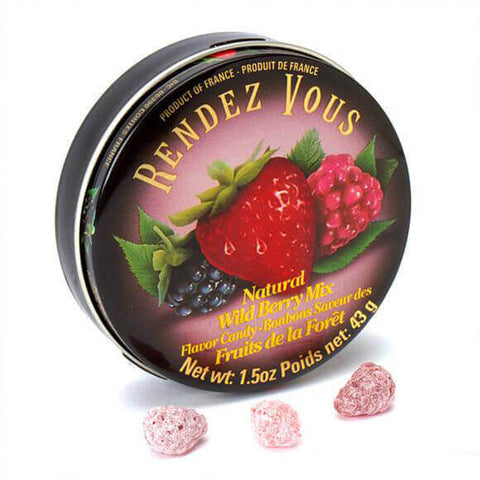 Rendezvous Natural Wild Berry Candy 43g