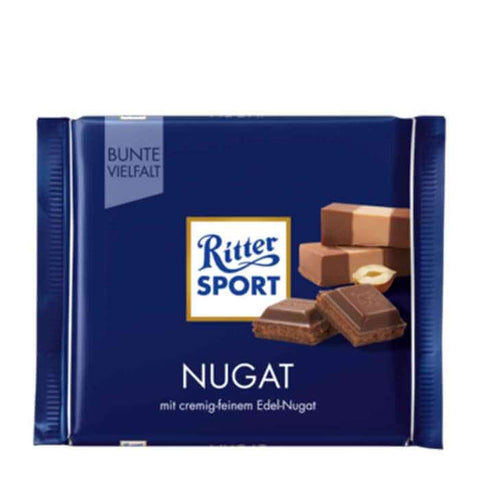 Ritter Sport Nugat Chocolate Bar With Praline Filling 100g