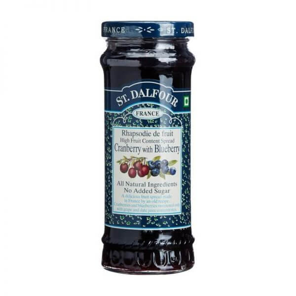 St. Dalfour Cranberry With Blueberry Fruit Spread 284g