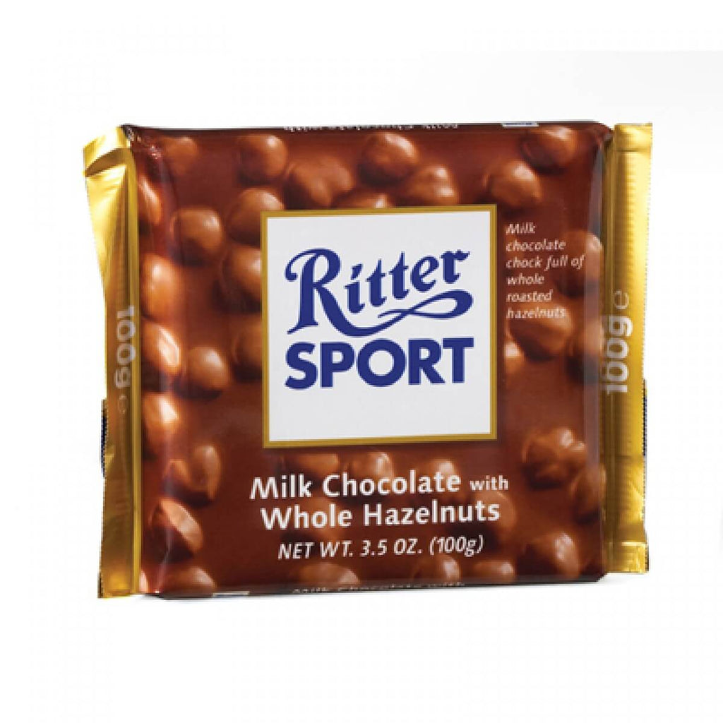 Ritter Sport Wholenut Hazelnuts Milk Chocolate 100g