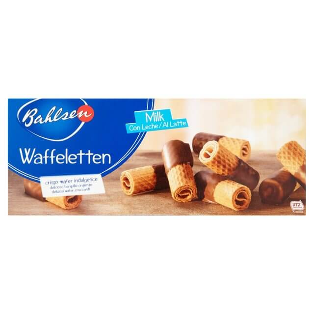 Bahlsen Waffeletten Milk Chocolate Wafer Roll Biscuits 100g