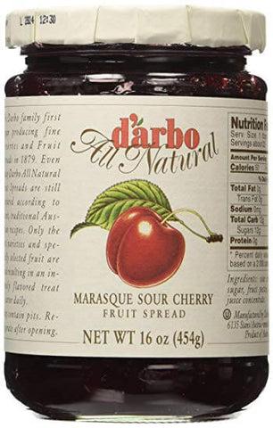 D Arbo Marasque Sour Cherry Fruit Spread 454g