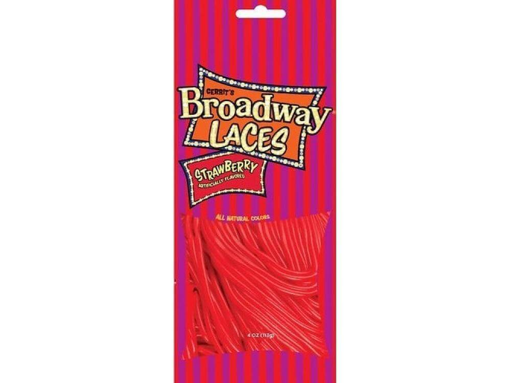 Gerrits Broadway Laces Strawberry Licorice 113g