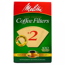 Melitta Coffee Filters No.2 Natural Brown (100 Cone Filters) 155g