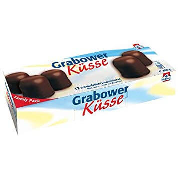 HEAT SENSITIVE - Grabower Marshmallow Kisses (HEAT SENSITIVE. We can not be responsible for Heat Damage) (12 Pack) 300g