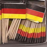 International Brands Toothpick Flags Germany (Pack of 25) 10g