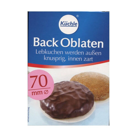 Kuechle Back Oblaten, Round Baking Wafers (70mm) 71g