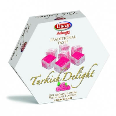 Usas Turkish Delight With Rose Flavour 350g