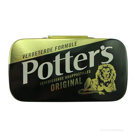 Potters Licorice Tablets Tin 12.5g