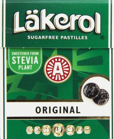 Lakerol Original Herb Menthol Sugarfree Pastilles 25g